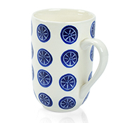 Blue Bat Trang Medallion Mug
