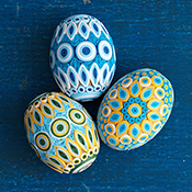 Blue & Gold Quilled Eggs