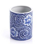 blue meadow small utensil holder vase