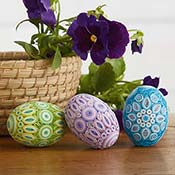 quilled pastel eggs