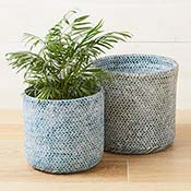 Double-Weave Bamboo Basket Set