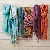 sky silk scarf