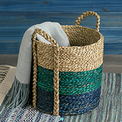 Three-Tone Seagrass Basket