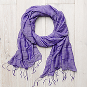 Mulberry Stripe Scarf