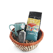 Cheerful Coffee & Chocolate Gift Basket