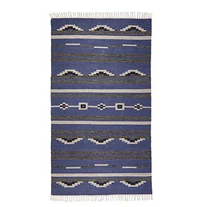 Blue & Gray Kilim Rugs - Medium