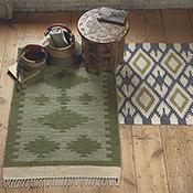 cotton chenille diamond rug