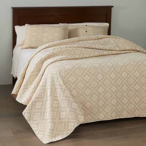 Egyptian Cotton Brocade Bedding - Dove Gray - Queen-Size Bedcover