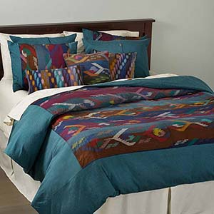 Dhaka Weave Bedding - Queen-Size Duvet Cover