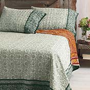 Forest Reverse Sari Kantha Bedding - Bedcover