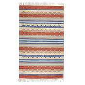 Kilim Rugs - Orange & Blue - Medium