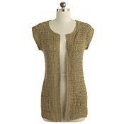 long crocheted cardigan