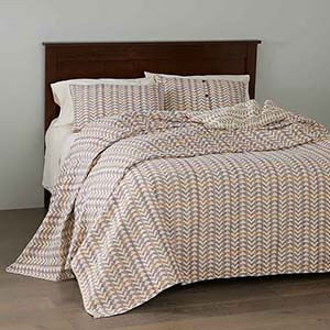 Egyptian Cotton Brocade Bedding - Multi - Queen-Size Bedcover