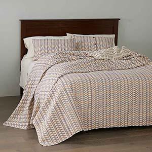 Egyptian Cotton Brocade Bedding - Multi - Queen-Size Bedcover
