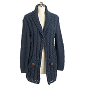 wool cardigan blue