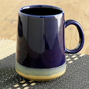Tall Farmhouse Mug- Cobalt