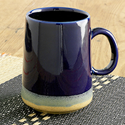 farmhouse cobalt tall mug