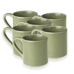Pack of 6 Celadon Mugs