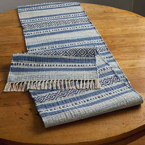 Blue Kilim Table Runner