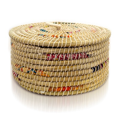 Small Chindi Stripe Basket