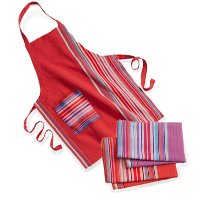 Strawberry Apron & Terrace Stripe Towels Offer