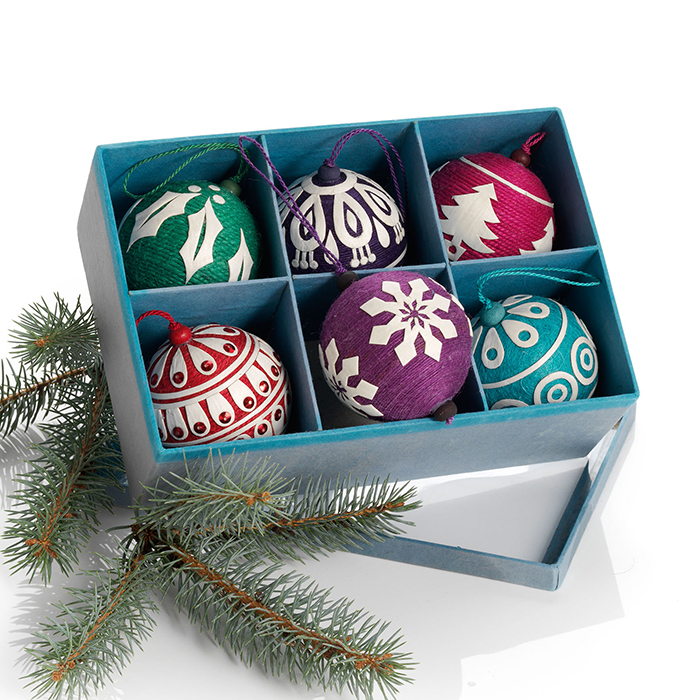 Colorful Applique Ornament Set
