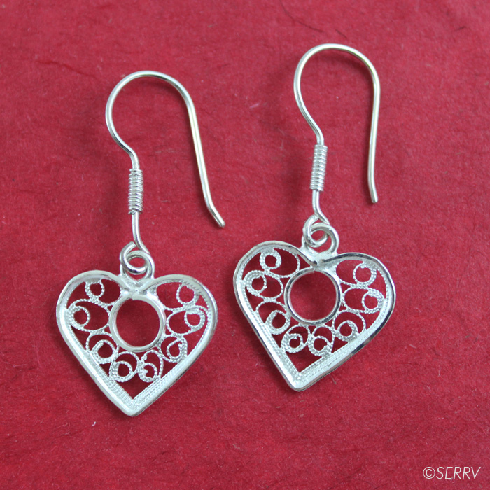 Filigree Sweetheart Earrings