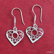 Filigree Sweetheart Earrings