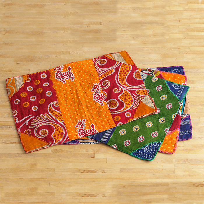 Set of 4 Kantha Placemats