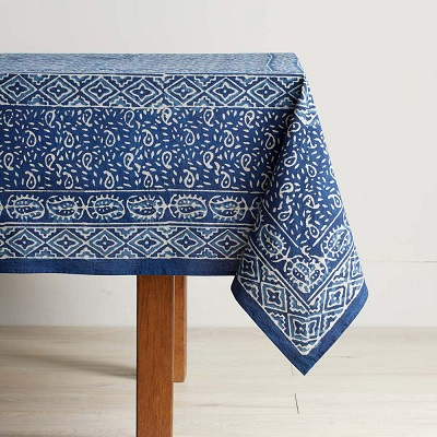 Wave Dabu Tablecloths