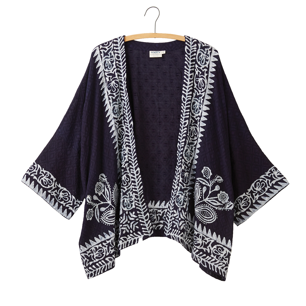 Indigo Batik Kimono