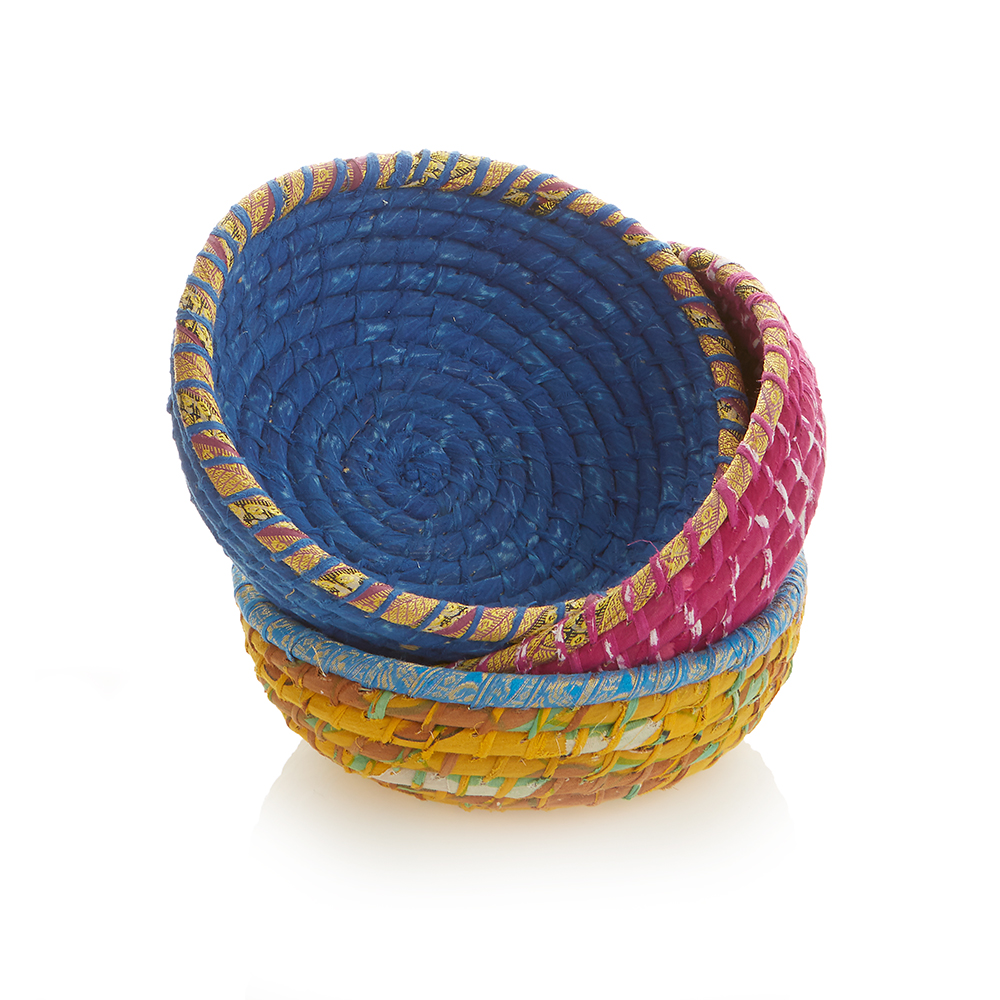 Set of 3 Round Chindi Baskets
