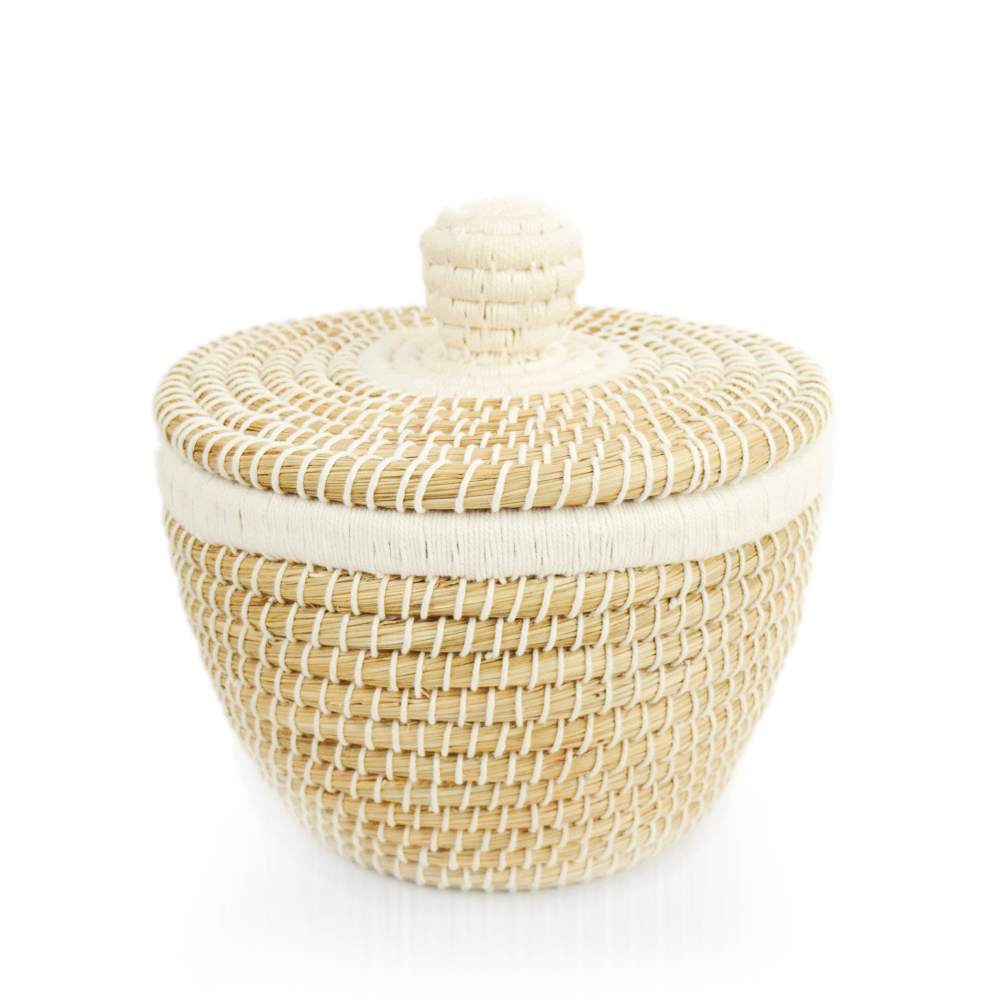 Lidded Grass Basket