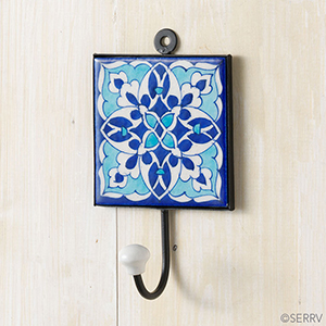 Abstract Blue Wall Hook