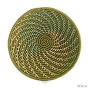 Green Fern Basket