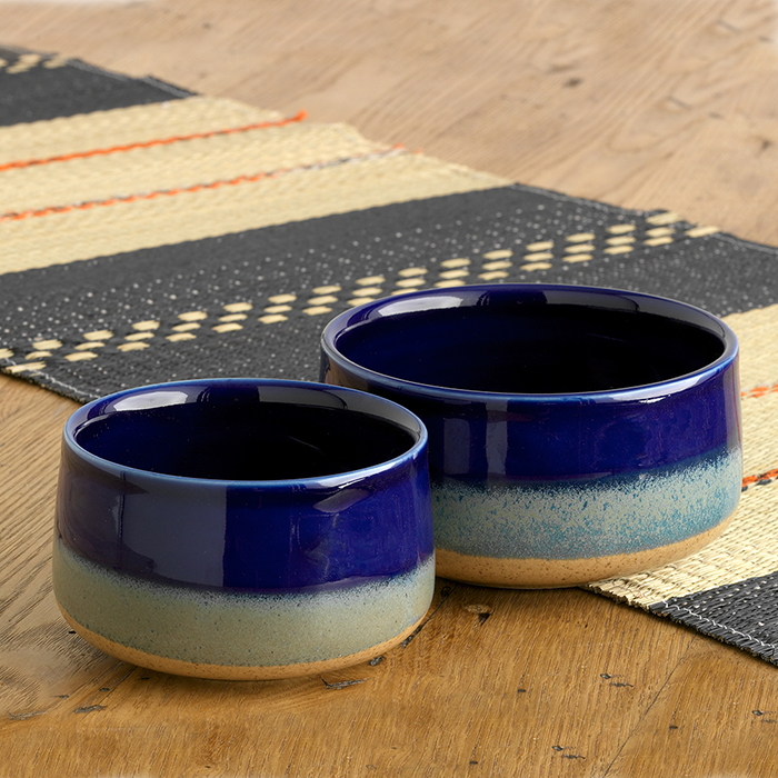 Farmhouse Tricolor Set of 2 Nesting Bowls