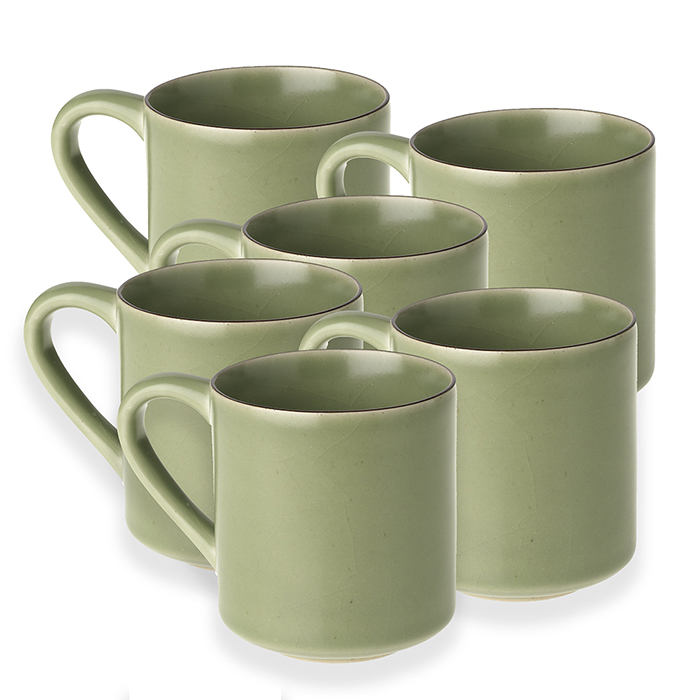 Pack of 6 Celadon Mugs