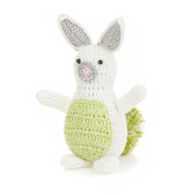 Green Pom Bunny