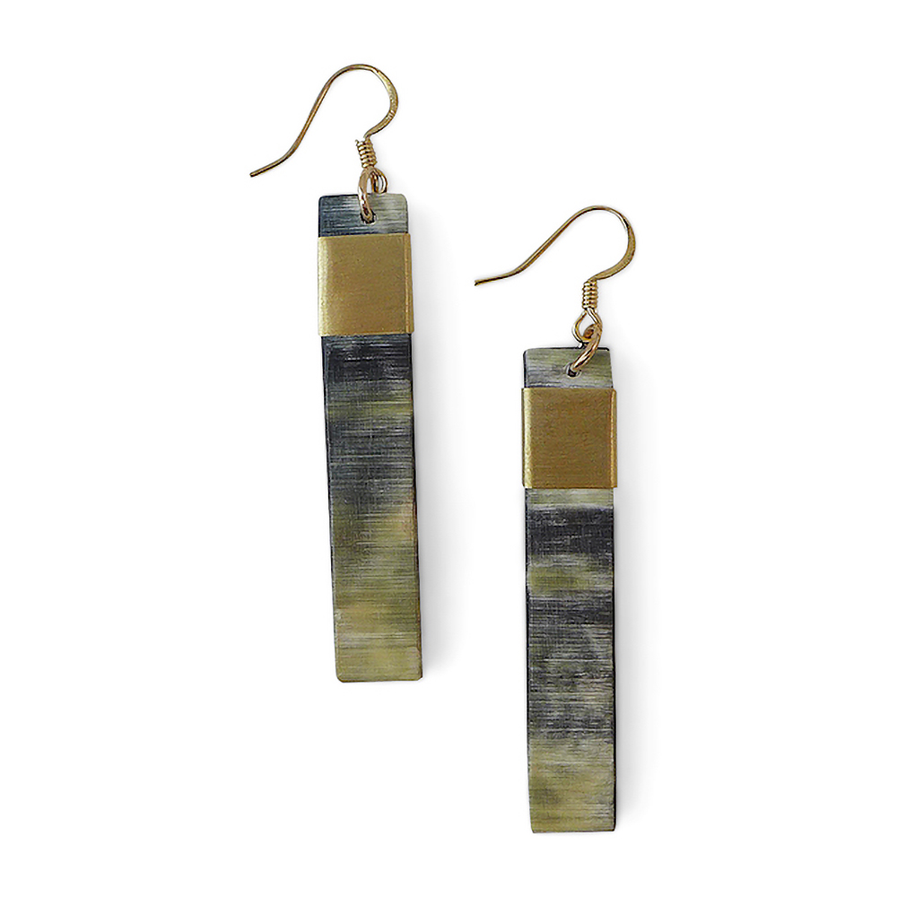Natural Bar Earrings - Dark
