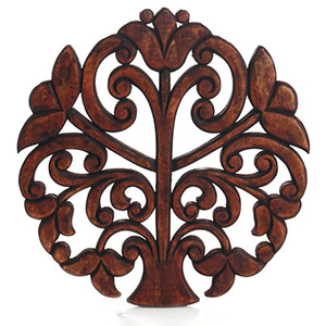 Large Tulip Tree of Life Wall Hanging