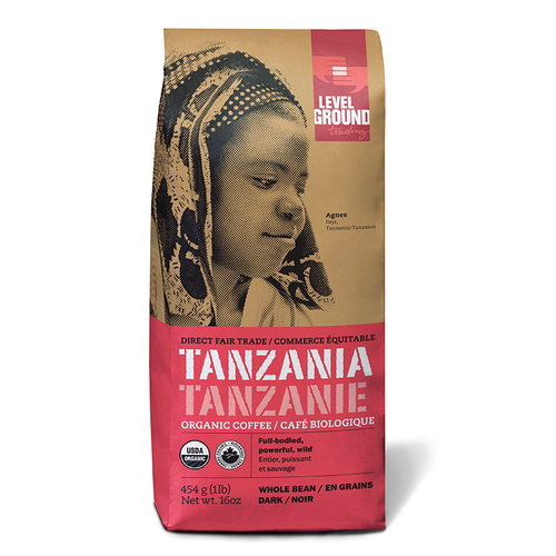Organic Tanzanian Dark Roast Coffee- Whole Bean or Ground