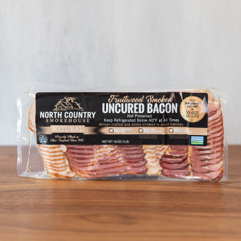 Fruitwood Smoked Uncured Bacon - Fruitwood Smoked Uncured Bacon <i> (1 lb)</i>