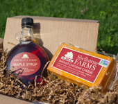 Sweet and Smoky Package - <b>Sweet and Smoky Package</b><ul><li>Shelburne Farms Maple Syrup (1 pint glass bottle)</li><li>Smoked Cheddar  (1 lb block)</li>