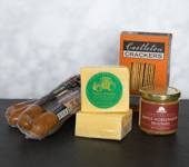 Carolyn's Country Store Collection - <b>Carolyn's Country Store Collection</b><ul><li>Old World Kielbasa (2 x 3/4 lb pkgs)</li><li>Tractor Cheddar  (2 x 1/2 lb)</li><li>Maple Horseradish Mustard-8 oz</li><li>Alehouse Cheddar Crackers