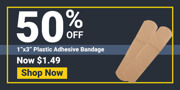 BANDAGE,PLASTIC,ADHESIVE,1in.  x 3in. ,100/BX