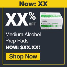 ALCOHOL PREP PAD,MED,NON-STERILE,70%, 200/BX