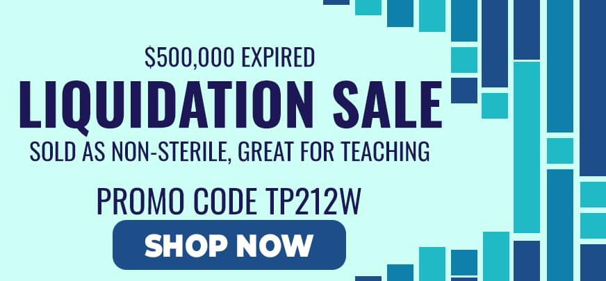 Expired Liquidation Sale, Sold and Non-Sterile great for teaching