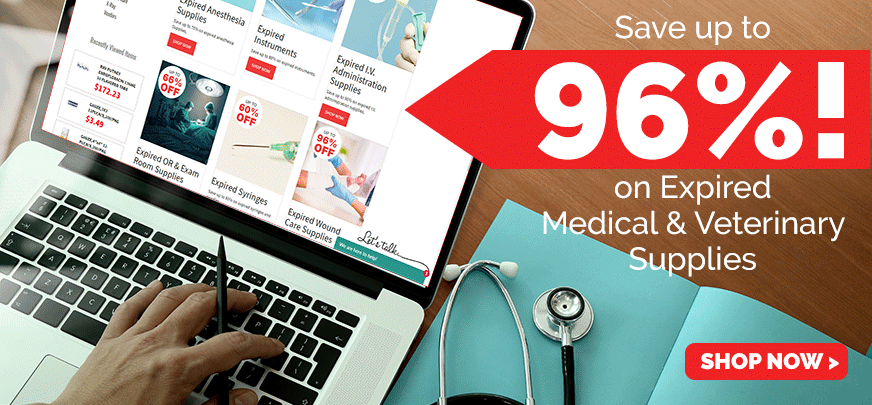 Save up to 90% on expired medical and veterinary supplies
