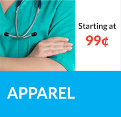 Scrubs and Apparel starting at 99¢