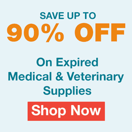 Up to 90% off expired Medical and veterinary supplies